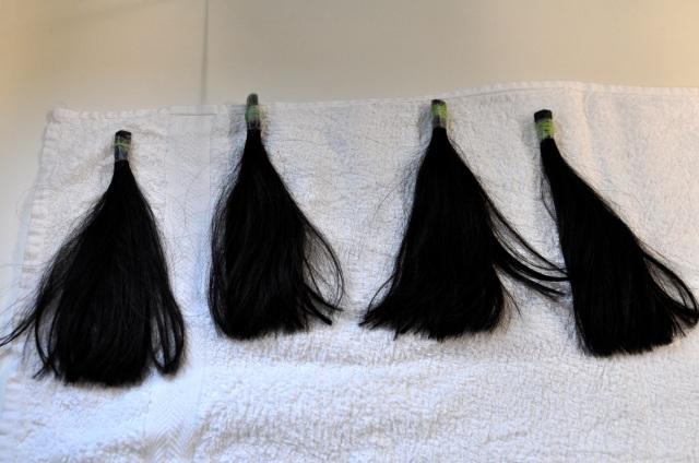 Des mèches de véritables cheveux utilisées pour les tests