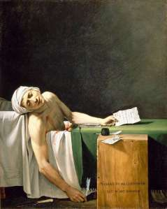 Marat assassiné, David, vers 1794